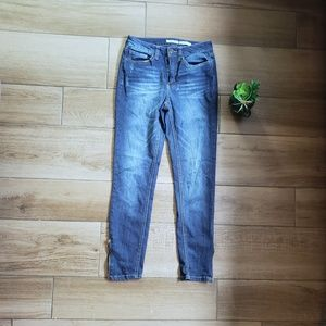 Mudd skinny fit zip ankle blue jeans 5